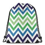 BXBX Plegable Bags Colorful Chevron Retro Decorative Pattern Drawstring Bag, Drawstring Backpack for Picnic Gym Sport Beach Travel Storage