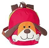 sigikid 24219 enfant garçon et fille, sac à dos chien, rouge/brun