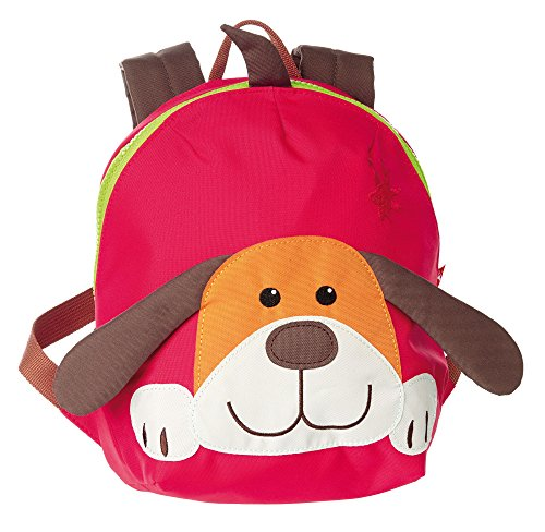 sigikid, Jungen und Mädchen, Mini Rucksack, Motiv Hund, Rot/Braun, 24219