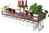 HLWJXS Bar Soporte para Vino Estante para Vino Estante para Vino Soporte de Pared Soporte para Botella de Vino Vintage de Metal de Pie Libre | Soporte para Copa de Vino Colgante Fácil de Instalar Ale