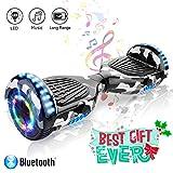 Patinete Eléctrico Auto Equilibrio Hoverboard 6.5 Pulgadas con Bluetooth y LED E-Skateboard