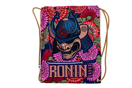 Gi Bag- Ronin Samurai Emperor Head Bag - Fits All BJJ, Karate, Judo, TKD, Kempo GIS - Bag for Men, Women, Kids – Convenient for Carrying Light Gym Gear - Perfect for Travelling Locally.
