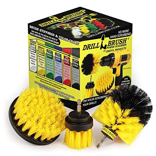Drill Brush – Drill Scrubber Attachment – Brush for Drill – Drill Brush Rims – Brush Scrubber – Power Scrubber Brush – Carpet Drill Brush – Bathtub Cleaner – Grout Brush – Drill Brush Attachment Set