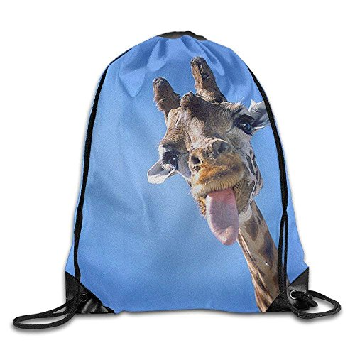 LoveBiuBiu Cool Drawstring Backpack Cute Giraffe Art Design Print Drawstring Backpack Rucksack Shoulder Bags Gym Bag Giraffe 2