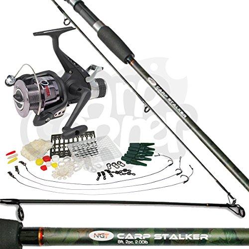 Complete Carp Fishing Stalking Set up With Rod Bait Runner Reel & Tackle...