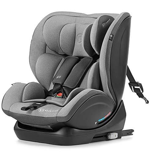 Kinderkraft Kinderautositz MYWAY, Autokindersitz, Autositz, Kindersitz mit Isofix, Top Tether Reclining, Einstellung der Kopfstütze, Gruppe 0+/1/2/3 0-36 kg, RWF 0-18 kg, INTERTEK ECE R44/04, Grau