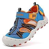Sandalias para niño Sandalias Deportivas Zapatillas de Trekking Sandalias de Senderismo Niña Sandalias de Vestir(J Azul Naranja,26 EU)