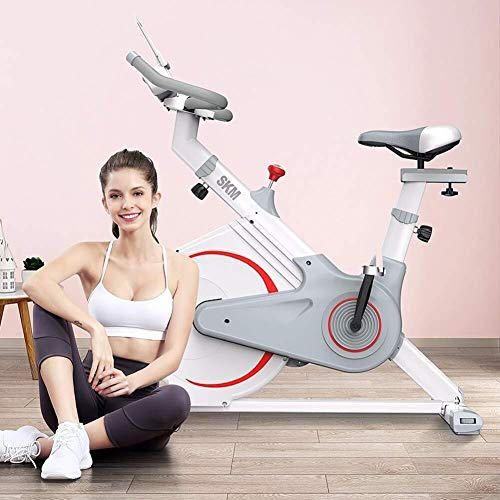 KANJJ-YU Ejercicio interior bicicleta ejercicio bicicleta bicicleta estacionaria W/pantalla LCD ritmo cardíaco ajustable pie fitness equipo hogar ejercicio fitness