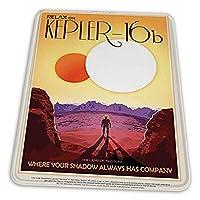 ゲーミングマウスパッド - Kepler-16bリラックスランドトゥーサンズNASAスペースツアートラベル マウスパッド おしゃれ ゲームおよびオフィス用/防水/洗える/滑り止め/ファッショナブルで丈夫 25x30cm