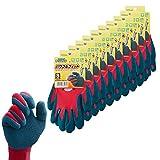 ダンロップホームプロダクツ 作業用手袋 S デジハンド パワフルフィット 10双セット レッド 長さ約22cm 10双入