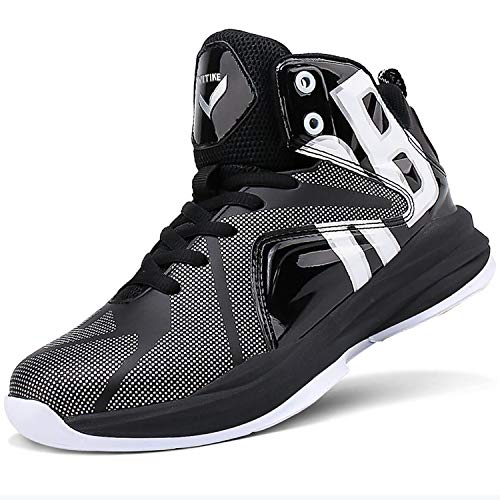 Zapatos de Baloncesto Hombre Alto para Ayudar a los Zapatos Deportivos Zapatillas para Niños(Negro 2,34EU)