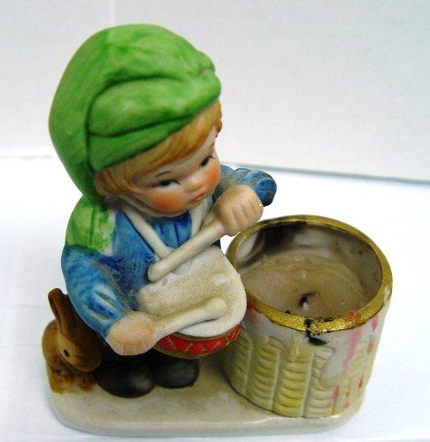 1978 Christmas Luvkins Drummer Boy Candle Holder Toothpick Holder Jasco