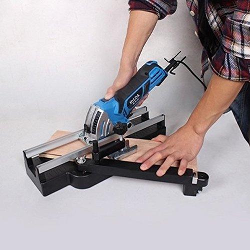 Gowe, mini sega circolare elettrica, 85 mm, 750 W, fai da te, multifunzione, sega elettrica da 85 mm, 8 lame + guida