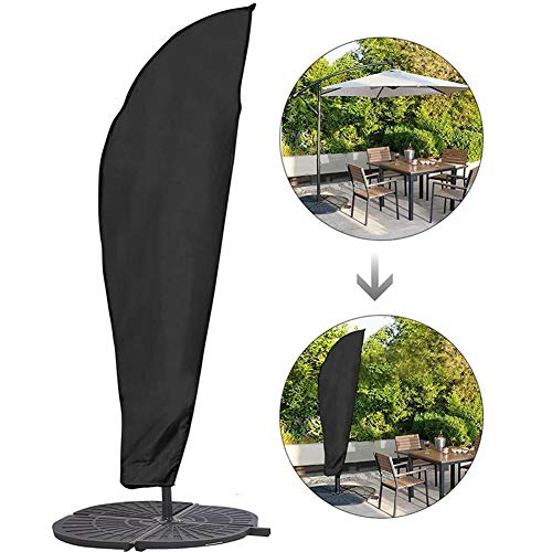 265cm L Large Cantilever Umbrella Cover w rod; Grey