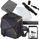 1A Photo Porst Juego de funda para cámara Canon EOS 1300D:antiestática+protector de pantalla+tarjeta SD de 16 GB+paño de microfibra+Pluma para limpieza+batería