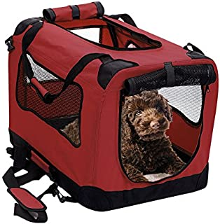 2PET Foldable Dog Crate - Soft, Easy to Fold & Carry Dog Crate for Indoor & Outdoor Use - Comfy Dog Home & Dog Travel Crate - Strong Steel Frame, Washable Fabric Cover