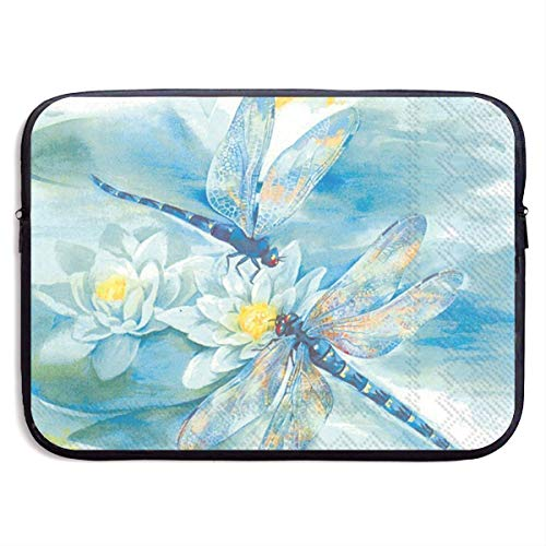Dragonfly 13-15 Inch Laptop Sleeve Bag - Tablet Clutch Carrying Case,Water Resistant, Black-13 Inch