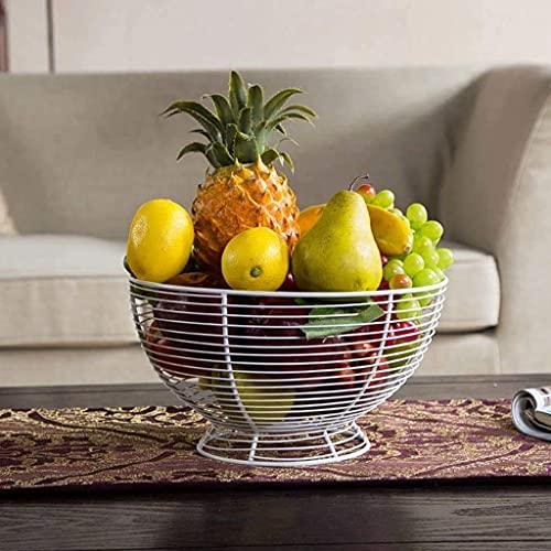 Ciotole di frutta Grande capacità cesto di frutta, arredamento per la casa cucina snack snack snack stoccaggio cesto di drenaggio cestello verdure spuntini per la cucina controsoffitto mantiene frutta