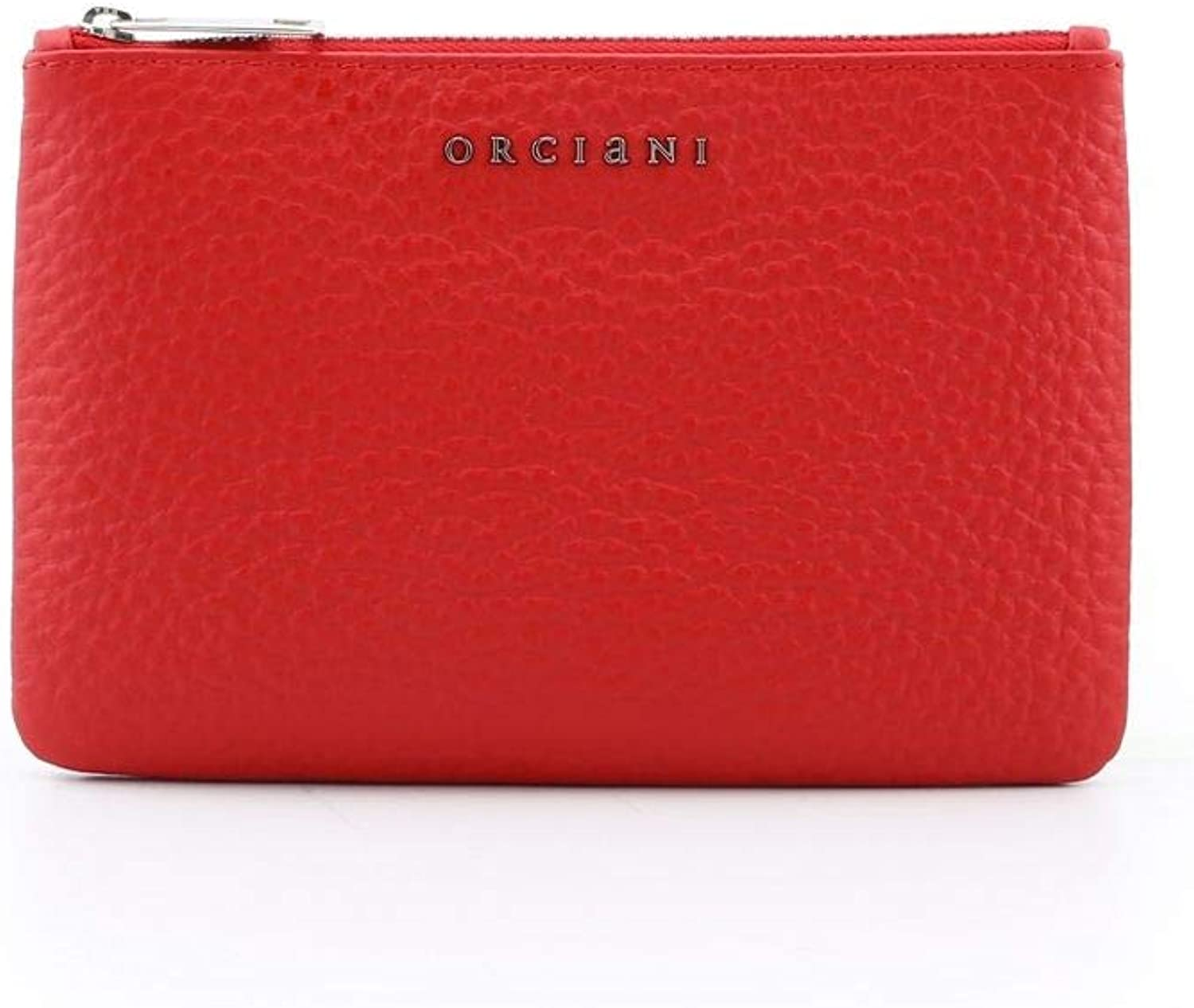 Orciani Women's SD0135SOFTRED Red Leather Clutch