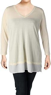 Lauren Ralph Lauren 女士莫代尔混纺雪纺下摆休闲上衣