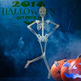 alesTOY 3ft Pose-N-Stay, Glow-in-The-Dark Skeleton for Halloween Party Favors Props and Decorations