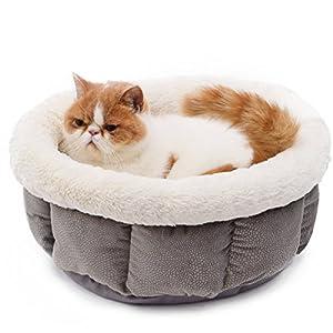 Panier pour Chat et Chien confortable, Coussin Maison Lit - Pliable Doux Chaud Pet Matelas