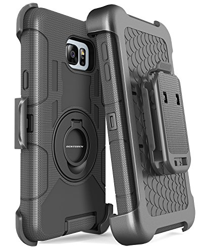 Note 5 Case, Galaxy Note 5 Case, BENTOBEN Samsung Galaxy Note 5 Case Shockproof Heavy Duty Hybrid Full Body Rugged Holster Protective Case for Samsung Galaxy Note 5 with Kickstand + Belt Clip (Black)