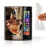 Handy Hülle kompatibel mit Microsoft Lumia 532 Niedlich Haustiere Haselmaus/Maus Transparent Klar Ultra Sanft Flexibel Silikon Gel/TPU Hülle Cover