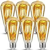 Bombilla Vintage E27 Edison,Retro Edison Bombillas LED Vintage,ST64 Edison Bombillas Decorativas...