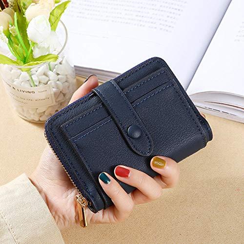 Dames portemonnee lang kleine wisselkaartverpakking vouwbare mini-brievenbus, marineblauw (blauw) - 9873851746172