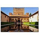 España Alhambra Granada Puzzle 1000 Piezas para Adultos Familia Rompecabezas Recuerdo Turismo Regalo