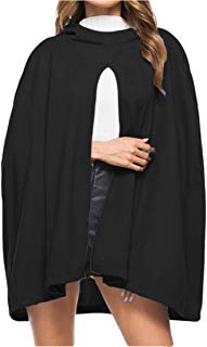 Ez-sofei Unisex Gothic Hooded Open Front Poncho Cape Coat Outwear Jacket Cloak