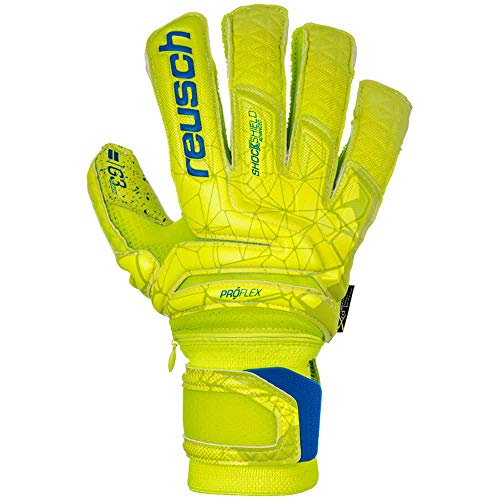 Reusch Herren Fit Control Supreme G3 Fusion Ortho-Tec Torwarthandschuhe, Lime/Safety Yellow, 9