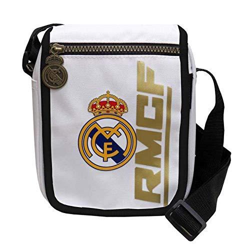 Real Madrid Portadiscman Bandolera Tiempo Libre y Sportwear, Adultos Unisex, Multicolor (Multicolor), Talla Única