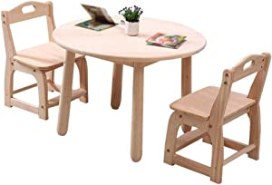 Hardwood Activity Play Table for Kids, Solid Wood Childrens Table for Playroom/Daycare/Preschool, Strong Bearing Capacity