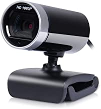 WDFDZSW 360 Degree Adjustable USB 2.0 HD Webcam Camera with Built-in Mic, 16 Million Pixels, Anti-Glare Coated Lens, 1080P...