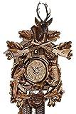 Original Schwarzwälder Kuckucksuhr aus Echtholz, mechanisches 8-Tage Laufwerk und VDS Zertifikat - Angebot von Uhren-Park Eble - Eble -Jagdstück 48cm- 38-24-12-80