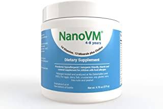 Solace Nutrition NanoVM 4-8 (275g) Flavorless Powdered Hypoallergenic, Carbohydrate Free Vitamin & Mineral Supplement, Des...