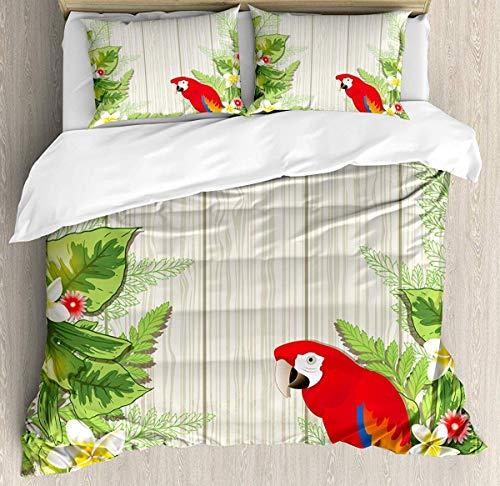 Asaffs Juego de cama de 3 piezas con 2 fundas de almohada, color verde crema
