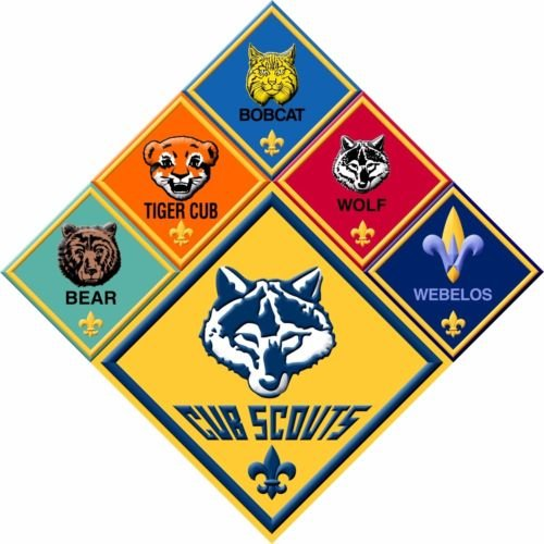 CAKEUSA CUB SCOUTS RANKS Boy Scouts Birthday Cake Topper Edible Image 1 4 Sheet Frosting