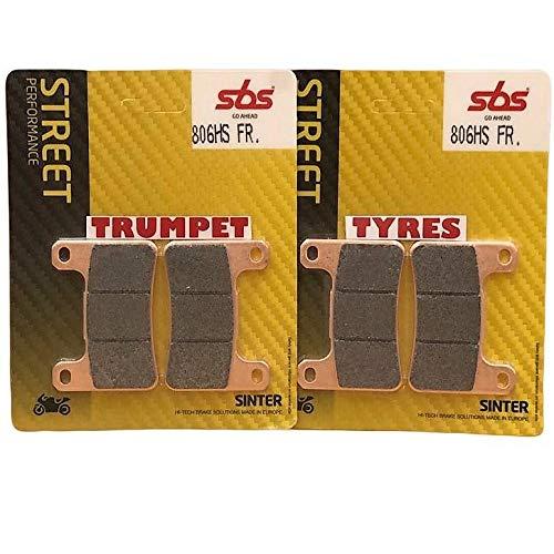 Juego de pastillas de freno sinterizadas para Suzuki GSX-R GSXR 600 / GSX-R GSXR 750 K4 K5 K6 K7 K8 K9 L0 04 05 06 07 08 09 10 SBS Performance Fast Road Sinterizado calidad OE 806HS