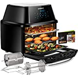 Air Fryer Oven 17-Quart, OMMO 1800W Countertop...