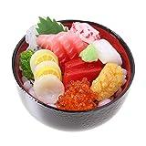 食品サンプル屋さんのマグネット(海鮮丼)【食品サンプル ミニチュア 雑貨 食べ物 刺身 海の幸 外国 土産 リアル】
