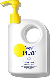 Supergoop! PLAY Everyday Lotion, 18 oz - SPF 50 PA++++ Reef-Safe, Broad Spectrum, Body & Face Sunscreen for Sensitive Skin...