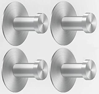 Heavy Duty Wall Hooks Self Adhesive Pack of 4 | Stainless Steel Coat Hooks Wall Mounted | Sticky Key Hooks Decorative Hanger for Towel Purse Used in Bedroom Kitchen Bathroom Holds Up 3KG