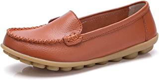 Veveca Women Natural Comfort Round Toe Walking Slip-on Classic Flat Indoor Casual Moccasin Driving Shoes Flat Loafer