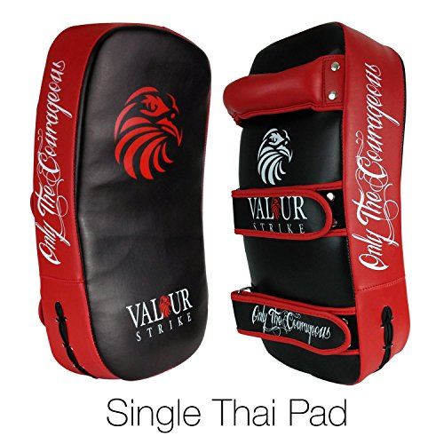 Valour Strike Kickboxing Tailandese Calcio Pad  Shield PRO Curve Pads Boxing Karate MMA Training Shields  Muay Fuoco Hook & Jab Curva Arm Sciopero Borsa – 1 x Single Pad