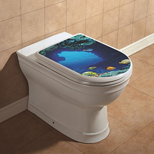 Vokmon WC Wallpaper Wall Art Sticker Tropical Fish in Vinile Stickers da Bagno