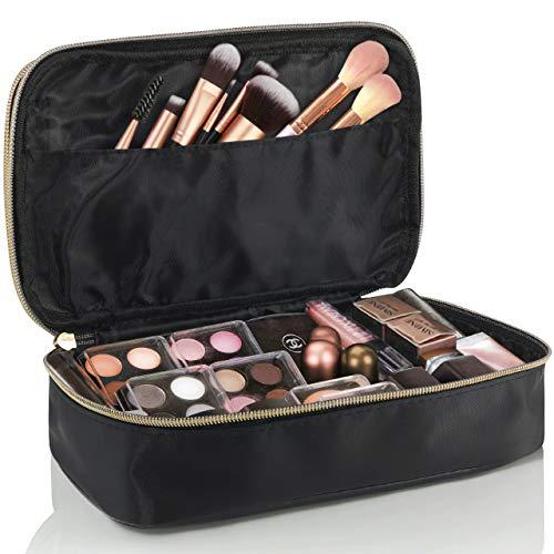 Lily England Kosmetiktasche & Schminktasche – Make Up Tasche & Beautycase für Damen in Schwarz