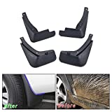 Muchkey no dril car mud Flaps for Audi A4 B8 2008 2009 2010 2011 2012 2013 Sedan Splash Front and Rear Guards 4pcs/Set